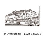 the potala palace in lhasa ... | Shutterstock .eps vector #1125356333