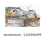 the potala palace in lhasa ... | Shutterstock .eps vector #1125356399