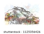 the potala palace in lhasa ... | Shutterstock .eps vector #1125356426