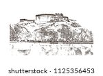 the potala palace in lhasa ... | Shutterstock .eps vector #1125356453