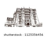 the potala palace in lhasa ... | Shutterstock .eps vector #1125356456