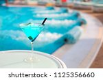 exotic alcohol cocktail on...   Shutterstock . vector #1125356660