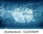 business pie chart with dollar | Shutterstock . vector #112535699
