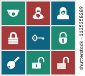 private icon. collection of 9... | Shutterstock .eps vector #1125358289