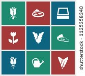 flora icon. collection of 9... | Shutterstock .eps vector #1125358340