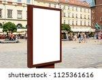 rectangular white mockup poster ... | Shutterstock . vector #1125361616