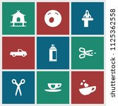 clipart icon. collection of 9... | Shutterstock .eps vector #1125362558