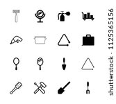 handle icon. collection of 16... | Shutterstock .eps vector #1125365156