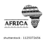 african map silhouette with... | Shutterstock .eps vector #1125372656