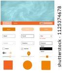 light orange vector web ui kit...