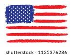 grunge american flag.vector... | Shutterstock .eps vector #1125376286