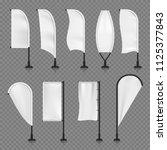 white blank textile vertical... | Shutterstock .eps vector #1125377843