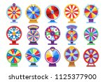 fortune wheels flat icons set.... | Shutterstock .eps vector #1125377900