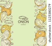 background with onion  rings ...   Shutterstock .eps vector #1125380279