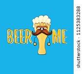 beer me vector concept...   Shutterstock .eps vector #1125383288