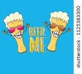 beer me vector concept...   Shutterstock .eps vector #1125383300