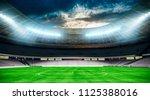 3d stadium field render | Shutterstock . vector #1125388016