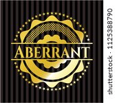 aberrant gold badge | Shutterstock .eps vector #1125388790
