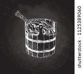 bathing goods. a wooden barrel...   Shutterstock .eps vector #1125389060