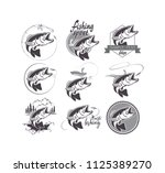 bass fish icons | Shutterstock .eps vector #1125389270