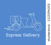 delivery motorbike. fast and... | Shutterstock .eps vector #1125396353