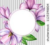 wildflower magnolia flower... | Shutterstock . vector #1125398804