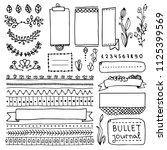 bullet journal hand drawn... | Shutterstock .eps vector #1125399569