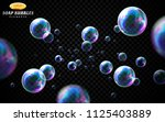 vector soap bubbles set... | Shutterstock .eps vector #1125403889