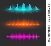 sound wave graphical depiction  ... | Shutterstock .eps vector #1125406256