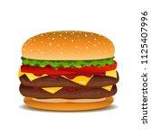 vector hamburger clip art... | Shutterstock .eps vector #1125407996