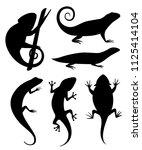 black silhouette. cartoon...   Shutterstock .eps vector #1125414104