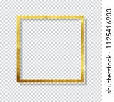 abstract shiny golden frame ... | Shutterstock . vector #1125416933