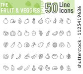 fruit and vegetables line icon... | Shutterstock .eps vector #1125419636