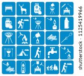 set of camping equipment icons. ... | Shutterstock .eps vector #1125419966