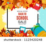 abstract  illustration back to... | Shutterstock . vector #1125420248