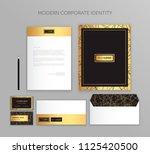 corporate identity business set.... | Shutterstock .eps vector #1125420500