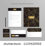 corporate identity business set.... | Shutterstock .eps vector #1125420503