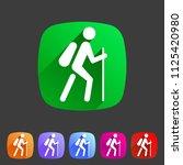 hiking treking icon icon flat... | Shutterstock .eps vector #1125420980