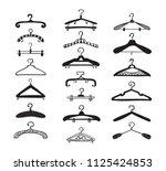 hanger vector set. fashion... | Shutterstock .eps vector #1125424853