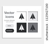 paper plane flat placed on web... | Shutterstock .eps vector #1125427100