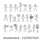 set of man drawing  different... | Shutterstock .eps vector #1125427313