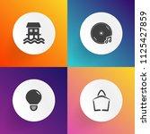 modern  simple vector icon set... | Shutterstock .eps vector #1125427859