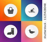 modern  simple vector icon set... | Shutterstock .eps vector #1125428048