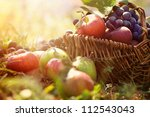 Organic Fruit In Basket In...