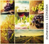 Country Series Collage Rustic Wine - Fine Art prints