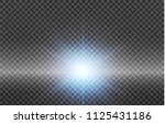 white glowing light burst... | Shutterstock .eps vector #1125431186