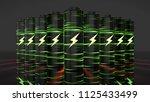 lithium ion battery li ion...   Shutterstock . vector #1125433499