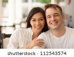 portrait of beautiful young... | Shutterstock . vector #112543574