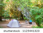 impression from the campsite at ... | Shutterstock . vector #1125441323
