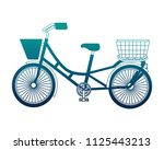 retro bicycle isolated icon   Shutterstock .eps vector #1125443213